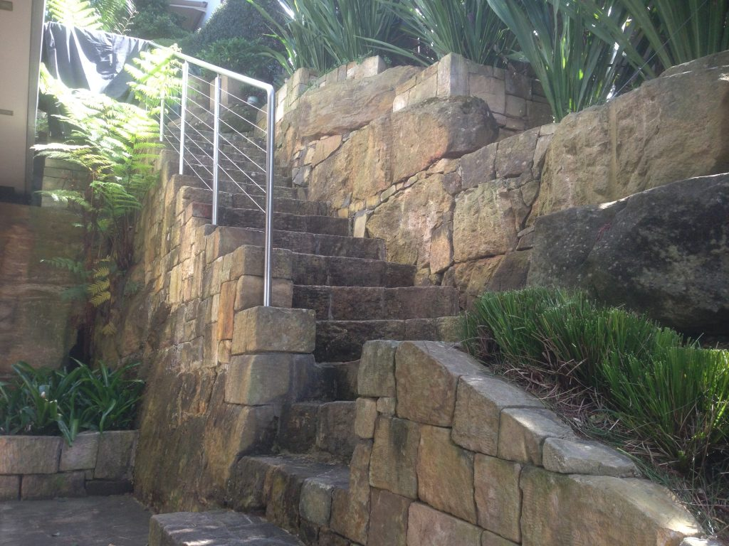 Concrete stairway