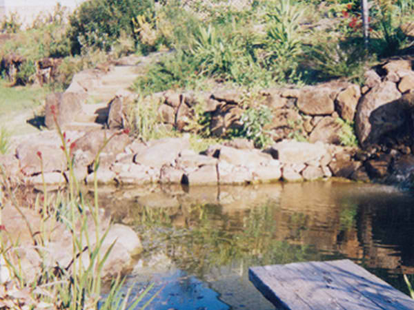 Pond and a beautiful rock formation